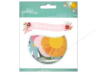 Shape Cuts: Pebbles Embellishment Garden Party Die Cut Cardstock Shape