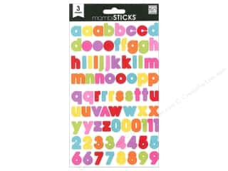 Me & My Big Ideas MAMBI Sticker Chipboard: Me&My Big Ideas Sticker MAMBI Sticks Block Lowercase Medium Multi