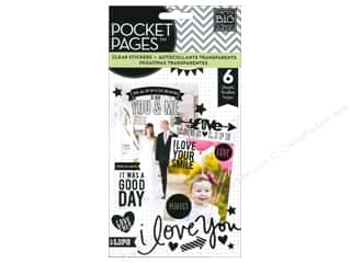 Glitter Love & Romance: Me&My Big Ideas Sticker Flip Pack Clear Black