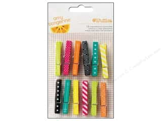 American Crafts Clothespins 12 pc. Amy Tangerine Plus One