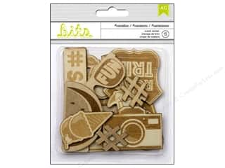 American Crafts Craft Embellishments: American Crafts Wood Veneer Shapes 15 pc. #Summer Vacation