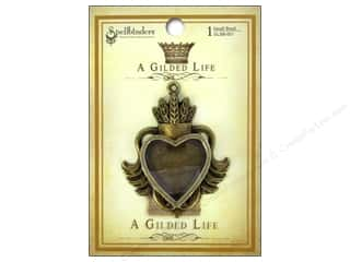 Feathers Hearts: Spellbinders Bezel Gilded Life Heart Small Antique Gold
