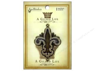 Metal Spellbinders Bezel: Spellbinders Bezel Gilded Life Fleur Small Antique Gold