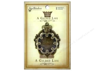 Metal Spellbinders Bezel: Spellbinders Bezel Gilded Life Crown Small Antique Gold