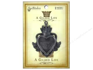 Jewelry Making Supplies Scrapbooking & Paper Crafts: Spellbinders Bezel Gilded Life Heart Small Antique Silver