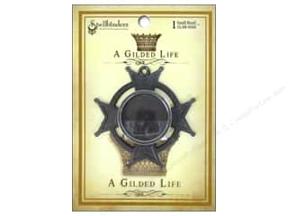 Metal Spellbinders Bezel: Spellbinders Bezel Gilded Life Iron Cross Small Antique Silver