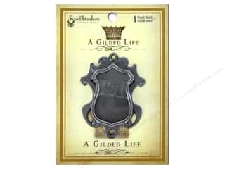 Jewelry Making Supplies Scrapbooking & Paper Crafts: Spellbinders Bezel Gilded Life Shield Small Antique Silver