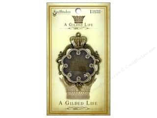 Metal Spellbinders Bezel: Spellbinders Bezel Gilded Life Crown Large Antique Gold