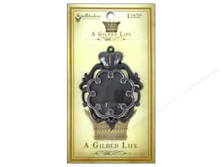 Metal Spellbinders Bezel: Spellbinders Bezel Gilded Life Crown Large Antique Silver