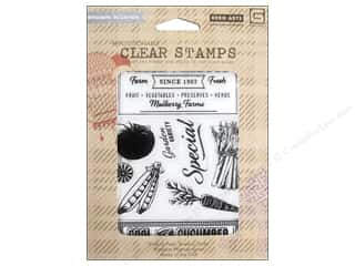 Fruit & Vegetables Back To School: BasicGrey Clear Stamps 9 pc. Herbs & Honey Cool As A Cucumber