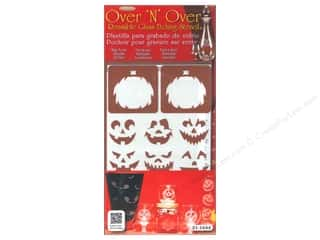 Home Decor Halloween Spook-tacular: Armour Over 'N' Over Stencil Halloween Faces