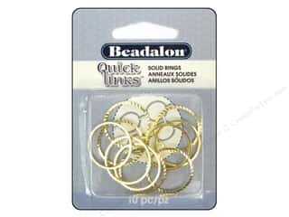 Spring $4 - $10: Beadalon Quick Links Diamond Cut Round 20 mm Gold 10 pc.