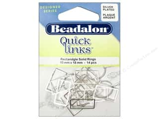 Beadalon Quick Links Rectangle 10 x 18 mm Silver 14 pc.