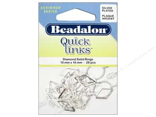 Spring $5 - $10: Beadalon Quick Links Diamond 10 x 16 mm Silver 28 pc.