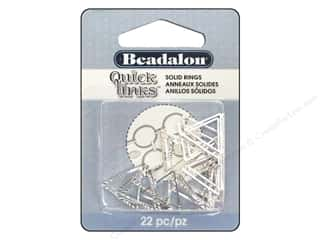 Spring $5 - $10: Beadalon Quick Links Triangle Cut Round 16.5 mm Silver 22 pc.