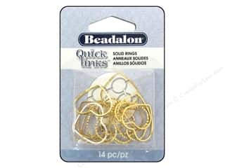 Beadalon Quick Links Diamond Cut Heart 19 x 21 mm Gold