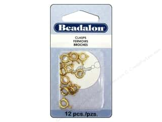 Beadalon Jump Rings/Spring Rings: Beadalon Spring Ring Clasps 7 mm Gold 12 pc.