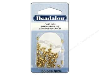 Jewelry Making Supplies $1 - $5: Beadalon Cord Ends Light 1.5 mm 55 pc. Gold