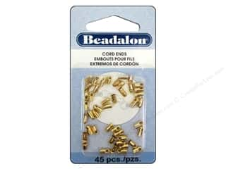 Beadalon Cord Ends Light 1.9 mm Gold 45 pc.