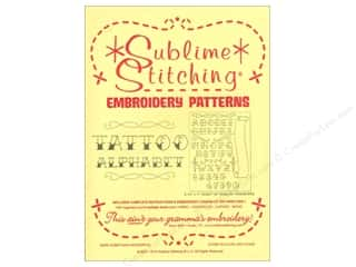 Sublime Stitching Embroidery Transfers Tattoo Alphabet
