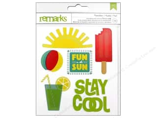theme stickers  summer: American Crafts Sticker Book #Summer Journaling & Phrases