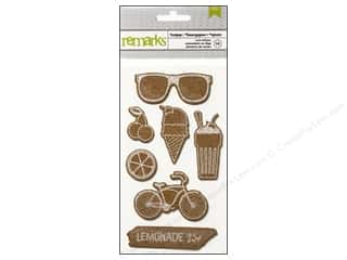 3-D Stickers / Fuzzy Stickers / Foam Stickers: American Crafts Cork Stickers #Summer Sodapop