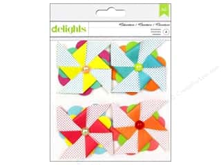 stickers  -3D -cardstock -fabric: American Crafts Stickers #Summer Delights Pinwheels Adventure
