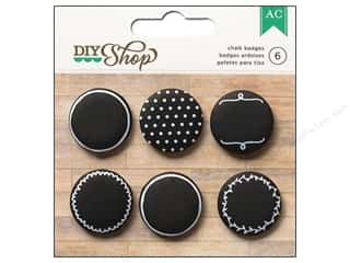 Push Pins Back to School: American Crafts Self Adhesive Badges 6 pc. DIY Shop Chalkboard