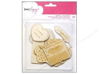 Wood Burning: American Crafts Wood Veneer Set 10 pc. Dear Lizzy Daydreamer