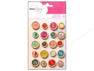 button: American Crafts Wood Buttons 20 pc. Dear Lizzy Daydreamer