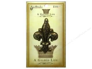 pendants jewelry: Spellbinders Pendant Gilded Life Fleur De Flourish Antique Gold