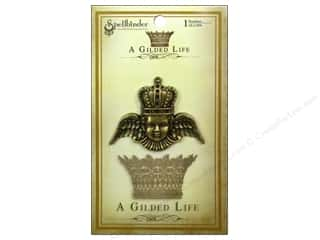 Charms Angels/Cherubs/Fairies: Spellbinders Pendant Gilded Life Crowned Angel Antique Gold