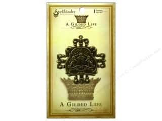 Gold Crest: Spellbinders Pendant Gilded Life Family Crest Antique Gold