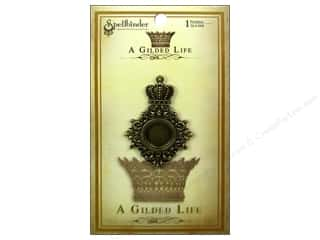 Jewelry Making Supplies Scrapbooking & Paper Crafts: Spellbinders Pendant Gilded Life Royal Medallion Antique Gold