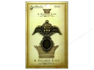 Angels/Cherubs/Fairies Beading & Jewelry Making Supplies: Spellbinders Pendant Gilded Life Cherub Antique Gold