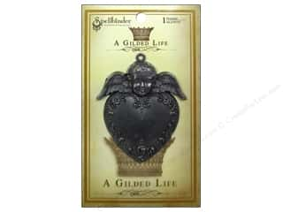 Angels/Cherubs/Fairies Beading & Jewelry Making Supplies: Spellbinders Pendant Gilded Life Heart Angel Antique Silver