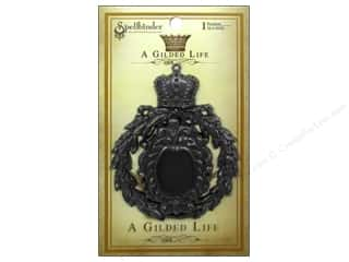 Charms and Pendants Spellbinders: Spellbinders Pendant Gilded Life Crowned Medallion Antique Silver