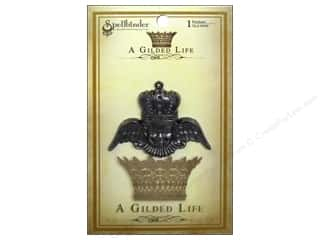 Craft Embellishments Angels/Cherubs/Fairies: Spellbinders Pendant Gilded Life Crowned Angel Antique Silver