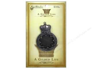 Charms and Pendants Spellbinders: Spellbinders Pendant Gilded Life Rose Medallion Antique Silver