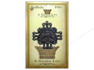 Gold Crest: Spellbinders Pendant Gilded Life Family Crest Antique Silver