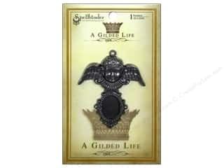 Angels/Cherubs/Fairies Beading & Jewelry Making Supplies: Spellbinders Pendant Gilded Life Cherub Antique Silver