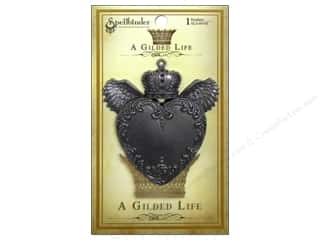 Charms and Pendants Spellbinders: Spellbinders Pendant Gilded Life Love Wings Antique Silver