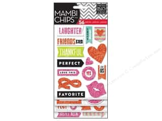 MAMBI Sticker Chipboard Chips You & Me