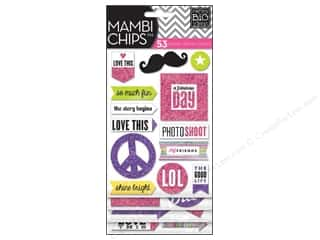 MAMBI Sticker Chipboard Chips True Story