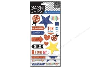 MAMBI Sticker Chipboard Chips Happy Day