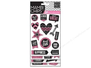MAMBI Sticker Chipboard Chips Chalk Good Day Pink
