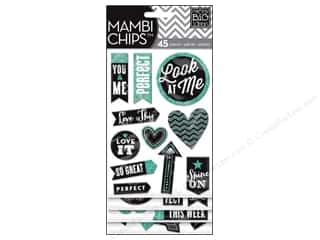 MAMBI Sticker Chipboard Chips Chalk Look Me Teal