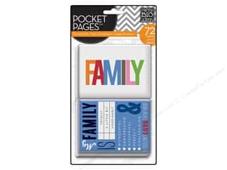 Family Books & Patterns: Me & My Big Ideas Pocket Pages Cards Family