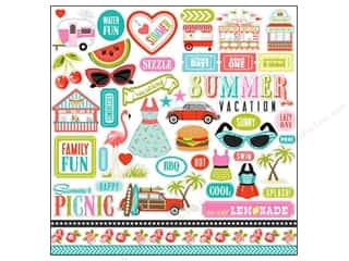 Carta Bella Sticker 12 x 12 in. Summer Lovin' Element (15 piece)