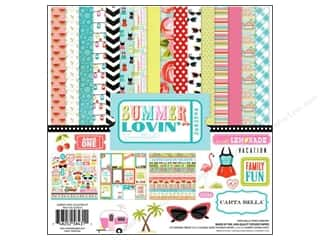 Carta Bella Caption Stickers / Frame Stickers: Carta Bella Collection Kit 12 x 12 in. Summer Lovin'